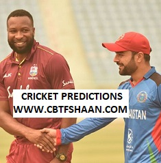 Free Cricket Betting Tips of Mzansi T20 West Indies Vs Afghanistan 17th Nov 2019 At Lucknow