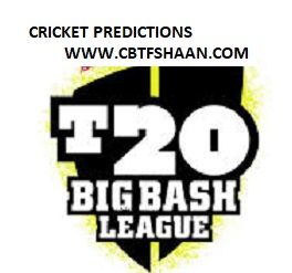 Free Cricket Prediction of Big Bash League T20 Sydney Sixer Vs Perth Scorchers 18th December 2019 At Sydney