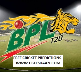 Free Cricket Prediction of Bpl T20 Chattogram Challangers Vs Rangpur Riders 14th December 2019 At Dhaka