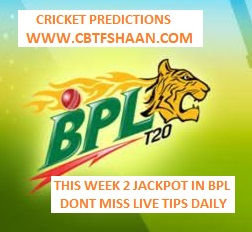 Free Cricket Prediction of Bpl T20 Chattogram Challangers Vs Sylhet Thunder 11th December 2019 At Dhaka