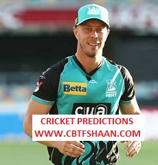 Free Cricket Prediction of Big Bash League T20 Brisbane Heat Vs Hobart Hurricane 9th Jan 2020 At Brisbane
