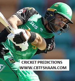 Free Cricket Prediction of Big Bash League T20 Melbourne Star Vs Sydney Thunder 8th Jan 2020 At Melbourne