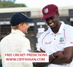 Free Cricket Prediction of England Vs West Indies 3rd Test 24th July 2020 At Manchester