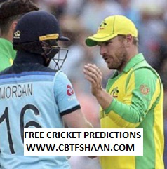 Free Cricket Prediction of Australia Vs England 1st T20 4th September 2020 At Southampton
